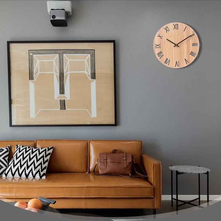 Современные настенные деревянные скандинавские часы. TEN&TEN