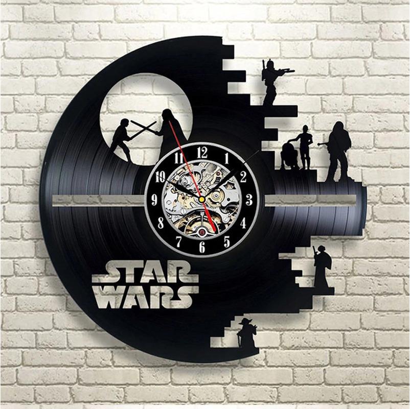 Винтажные виниловые настенные часы с современным дизайном