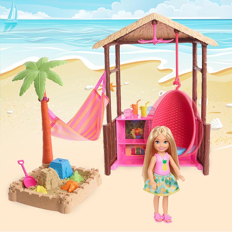 Оригинальная кукла Челси. Пляжный дом.Barbie
